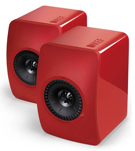 KEF LS50 Racing Red Speaker System