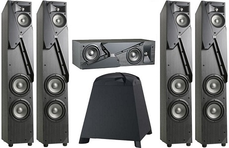 5.1 JBL Studio 190 + сабвуфер Studio 150 black  (set 3)