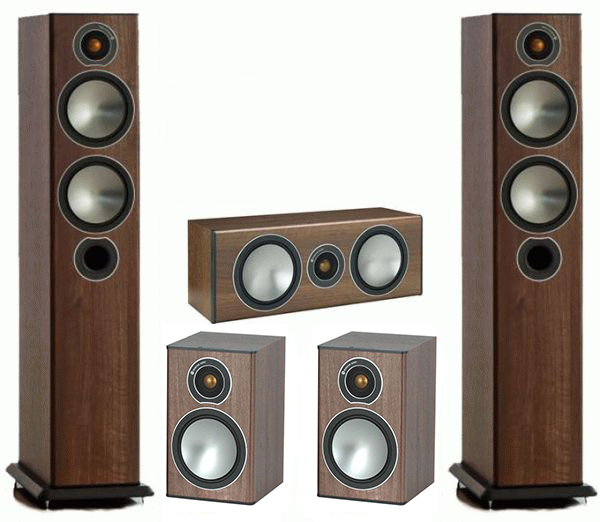 Комплект акустики 5.0 Monitor Audio Bronze 5 set walnut (Monitor Audio)