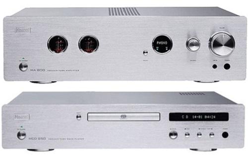 Стерео усилитель Magnat (усилитель MA800 + CD-плеер MCD850) silver (Magnat)