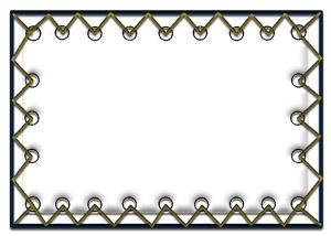 Изготовление экрана прямой проекции на люверсах из полотна (цена за 1 кв.м)